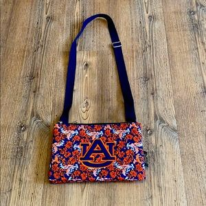 Eagles Wings Auburn Tigers Quilted Cross Body Bag